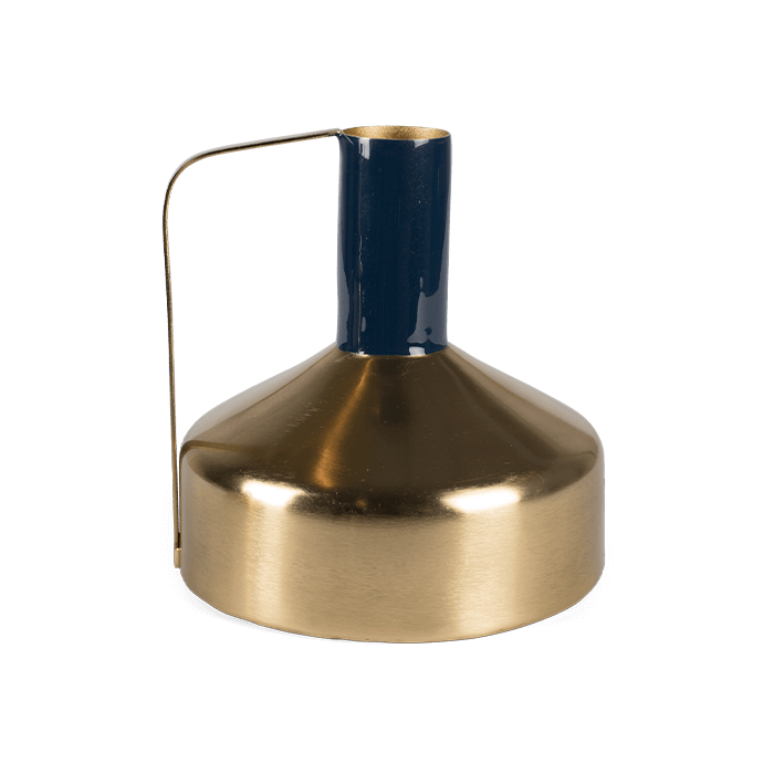 Bold Monkey Call the spirit gouden vaas goud messing emaille donkerblauw