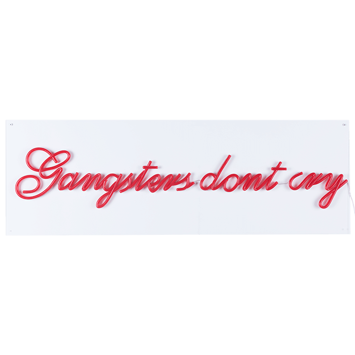 Bold Monkey Gangsters don't cry LED neon wall sign wall lamp red statement-making