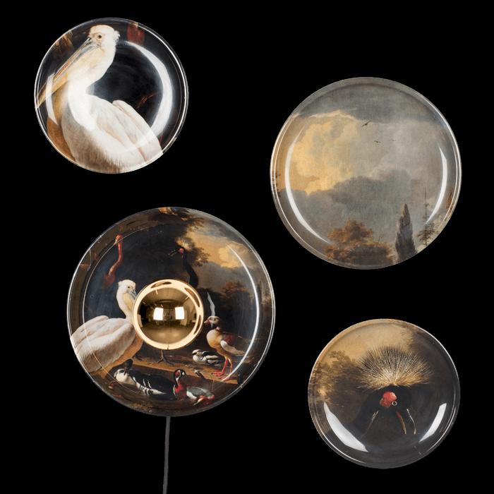 Bold Monkey No Food Here wandlamp vogels print (set of 4) ijzeren bordjes aan de wand kunst pelikaan