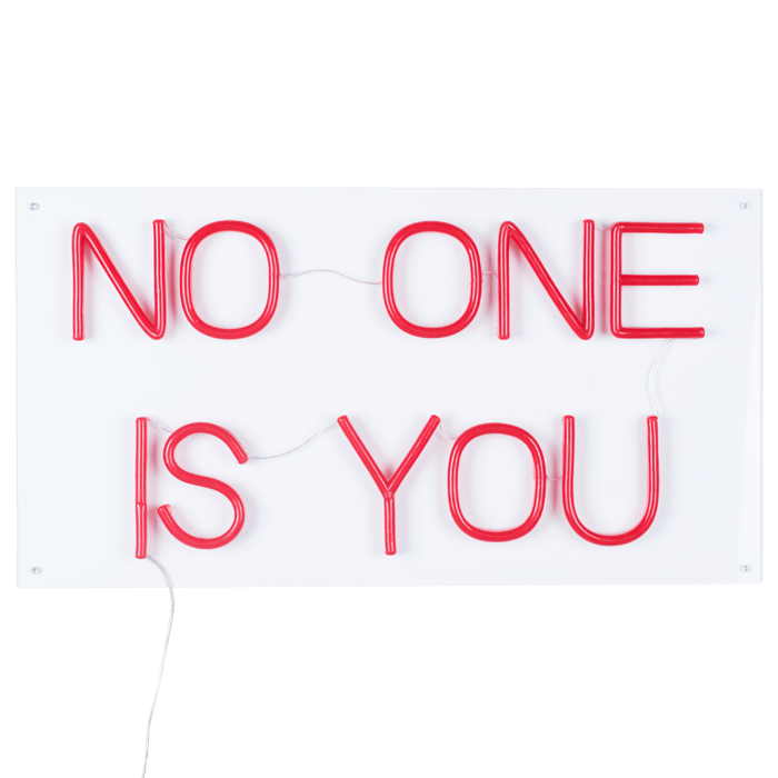 Bold Monkey No One Is You LED neon wandlamp rood lamp statement-making detail