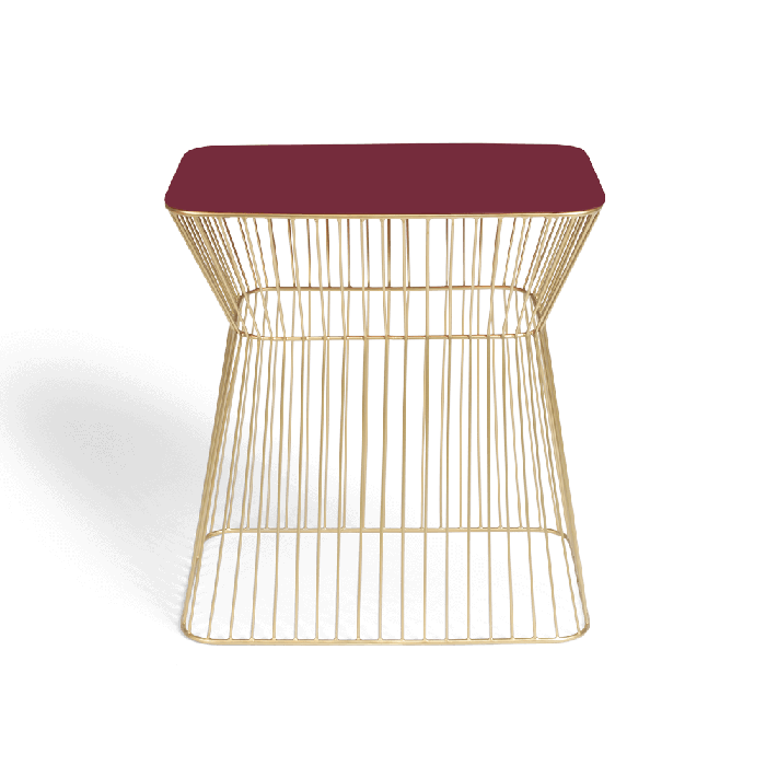 Bold Monkey No Offence side table wine red
