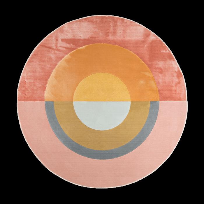 Flip The Rainbow vloerkleed 160 cm kleurrijk rond retro