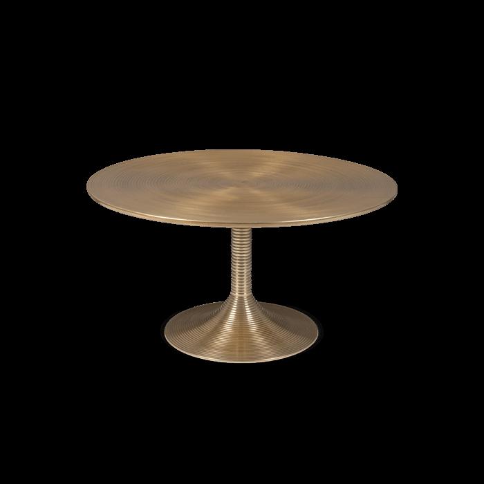 Bold Monkey hypnotiserende ronde koffietafel goud gelakte aluminium vooraanzicht