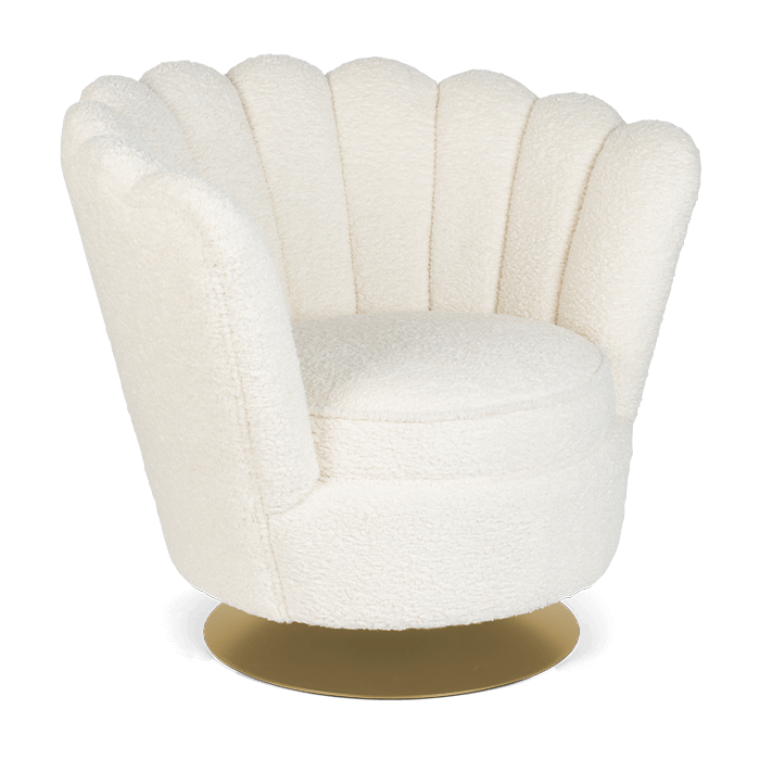 Bold Monkey Mother Of All Shells fauteuil teddy naturel goud