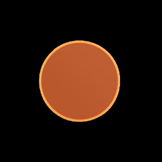 Bold Monkey You're So Ugly kleine ronde spiegel S small oranje glas diameter ⌀ ø 30 cm