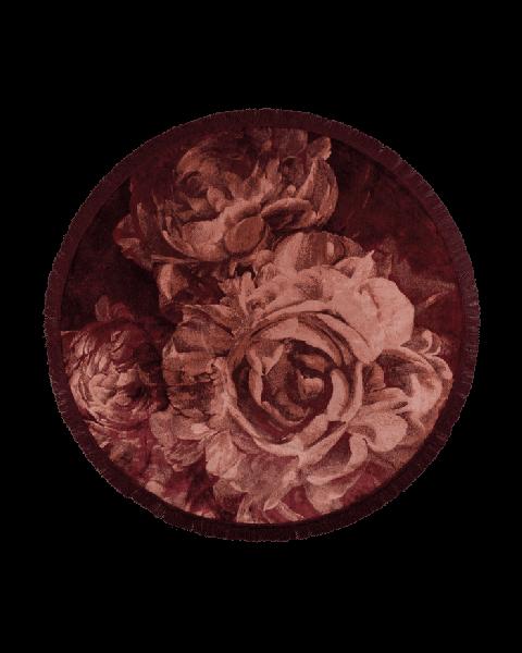 Bold MonkeyStitchy roses vloerkleed rond 175' - Rond design vloerkleed rozen - rozenprint - oudroze