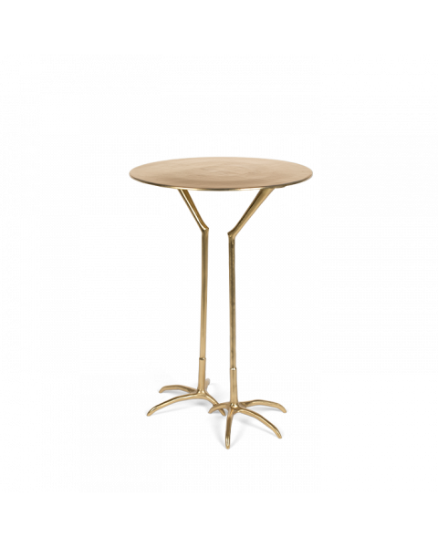 The Golden Heron side table gold side view
