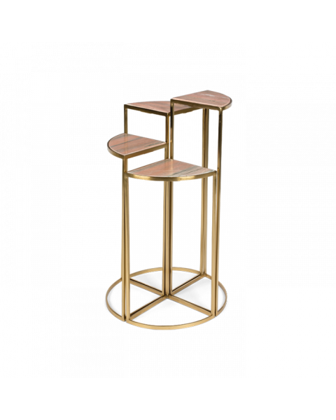 Bold Monkey The PerfectCocktailsidetable golden frame pink marble table top front view