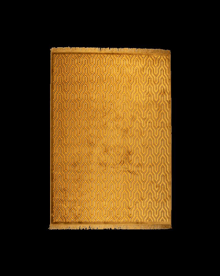 bold monkey i feel so soft carpet 170x240 yellow ochre extravagant geometric pattern