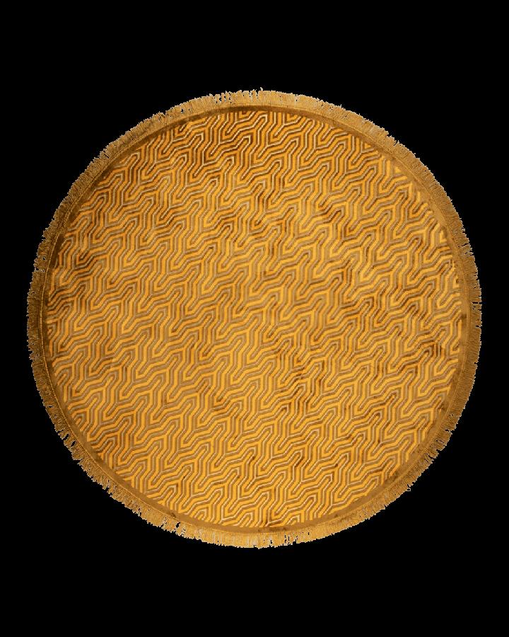 Bold Monkey I Feel So Soft Round vloerkleed 200 cm geel geometrisch patroon